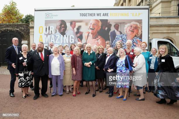 Camilla Duchess of Cornwall hosts a reception to celebrate the launch of the 'Our Amazing People' campaign with Royal Voluntary Service Ambassadors...