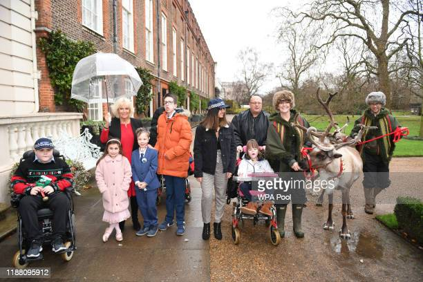 Camilla, Duchess of Cornwall hosts her annual children's christmas party at Clarence House on December 12, 2019 in London, England. The Duchess who...