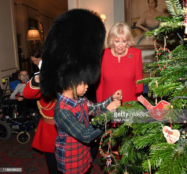 Camilla Duchess of Cornwall hosts her annual children's christmas party at Clarence House on December 12 2019 in London England The Duchess who is a...