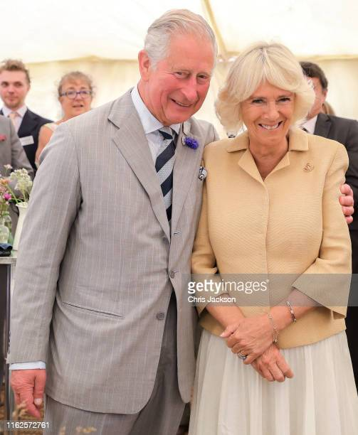 Camilla Duchess of Cornwall is sung Happy Birthday by Prince Charles Prince of Wales and the crowds gathered at the National Parks 'Big Picnic'...