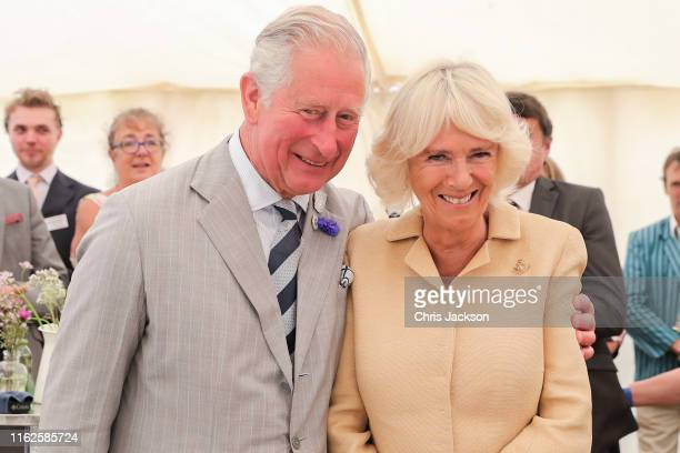 Camilla, Duchess of Cornwall is sung Happy Birthday by Prince Charles, Prince of Wales and the crowds gathered at the National Parks 'Big Picnic'...
