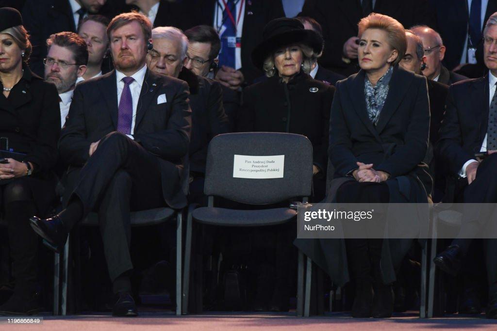 75th Anniversary of Auschwitz Liberation : News Photo