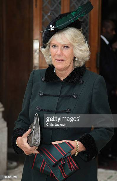 Camilla, Duchess of Cornwall leaves a reception at London Guildhall after a Service of Commemoration to mark the end of combat operations in Iraq on...