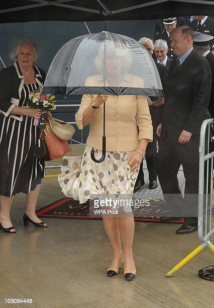 Camilla Duchess Of Cornwall leaving after boarding the Cunard Liner 'Queen Victoria while on her visit to Merseyside on July 26th in Merseyside...