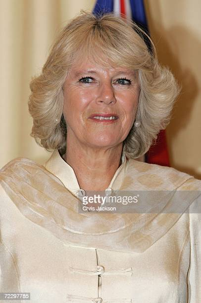 Camilla Duchess of Cornwall looks on whilst visiting a Youth Business International Event at the Prime Minister's House on day two of a week long...
