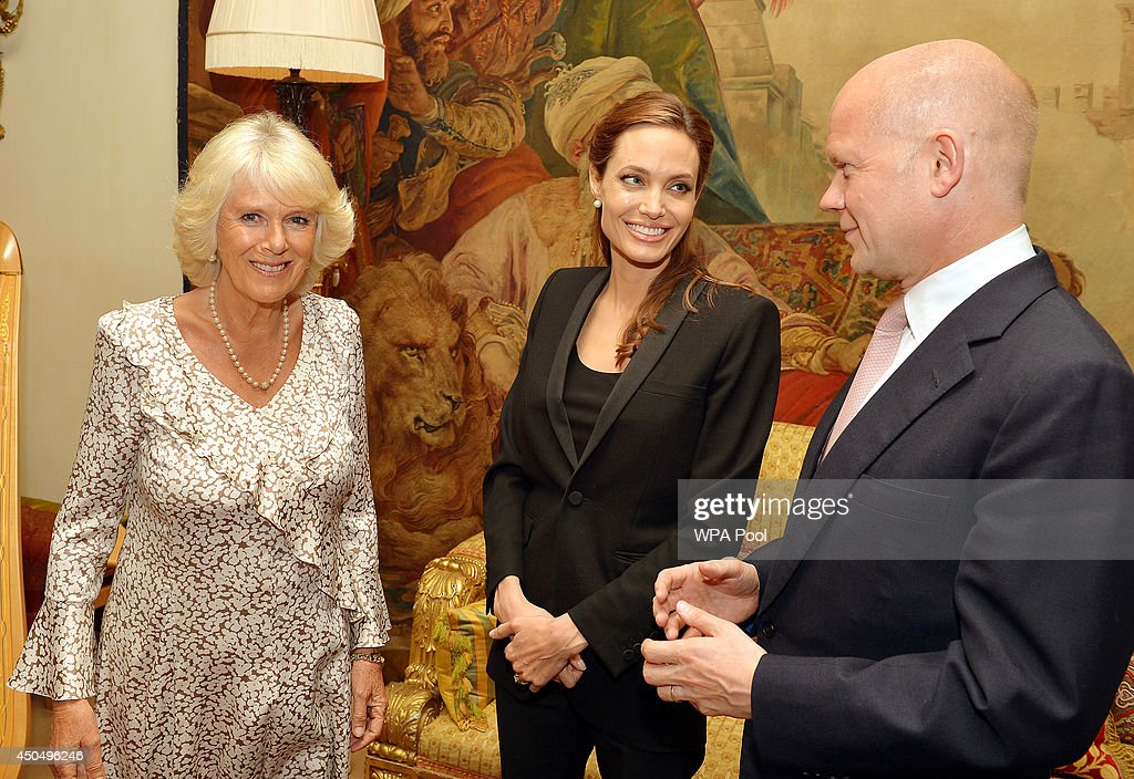 Camilla, Duchess of Cornwall Hosts A Private Meeting With Angelina Jolie and William Hague
