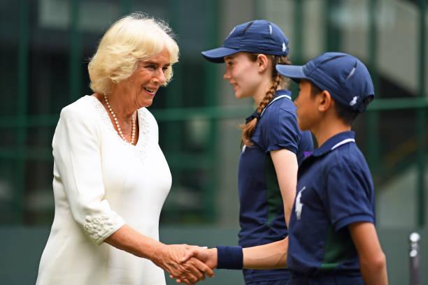 GBR: The Duchess of Cornwall Attends Wimbledon 2019 - Day 9