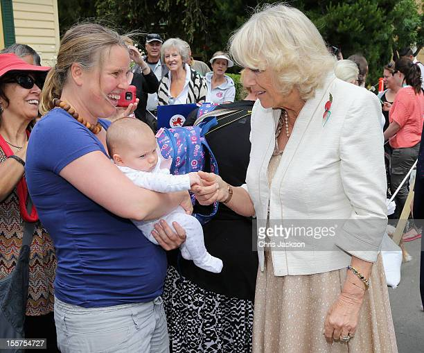 Camilla Duchess of Cornwall meets locals on a walkabout on November 8 2012 in Richmond Australia The Royal couple are in Australia on the second leg...
