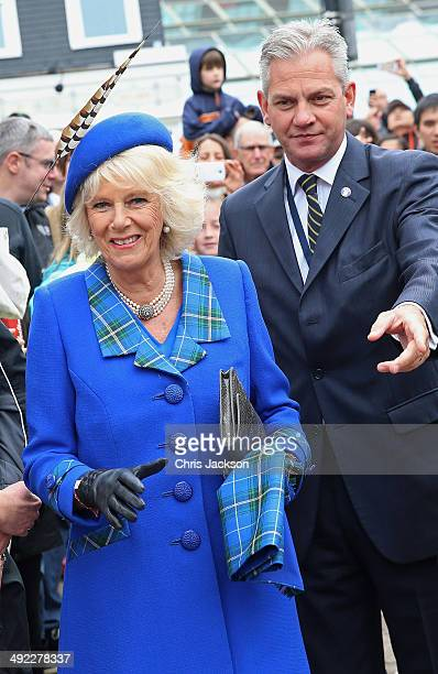 Camilla Duchess of Cornwall meets members of the Canadian public after an official 'Welcome to Canada' ceremony at Grand Parade on May 19 2014 in...