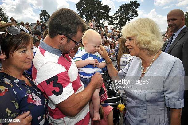 Camilla, Duchess of Cornwall meets members of the public at the Royal Welsh Show in Llanelwedd on July 24, 2013 in Builth Wells, Wales.