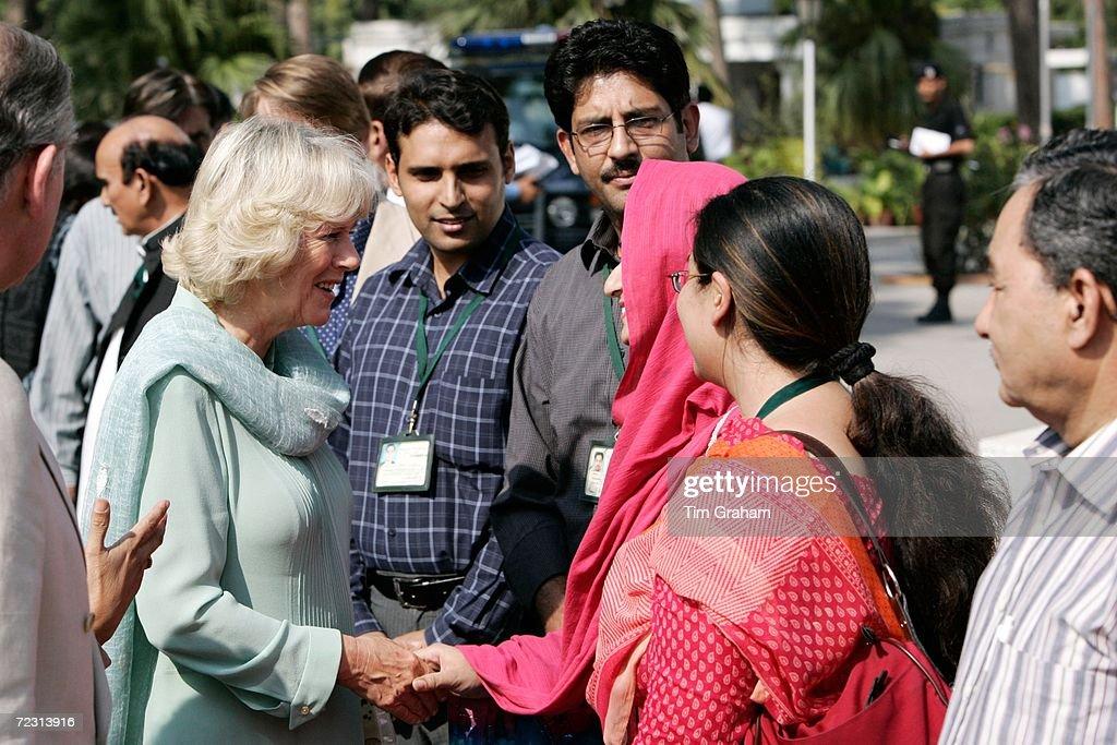 Duchess of Cornwall Visits Fatima Jinnah University : News Photo