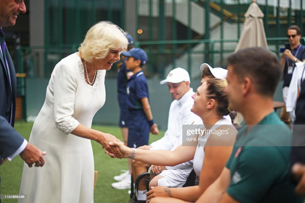The Duchess of Cornwall Attends Wimbledon 2019 - Day 9 : News Photo