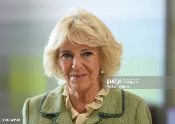 Camilla, Duchess of Cornwall opens Royal National Hospital for Rheumatic Diseases and Brownsword Therapies Centre on October 22, 2019 in Bath,...
