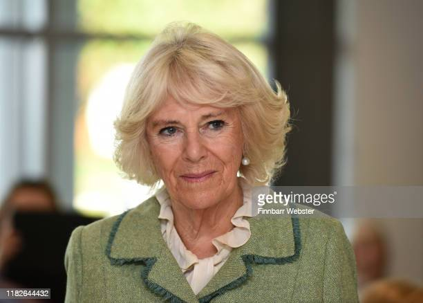 Camilla Duchess of Cornwall opens Royal National Hospital for Rheumatic Diseases and Brownsword Therapies Centre on October 22 2019 in Bath England