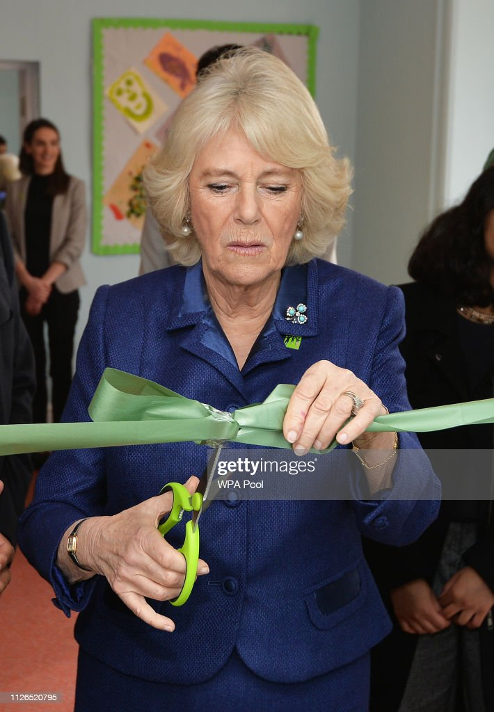 The Duchess Of Cornwall Visits WellBeing Hub In Ilford : News Photo