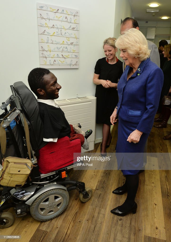 GBR: The Duchess Of Cornwall Visits WellBeing Hub In Ilford