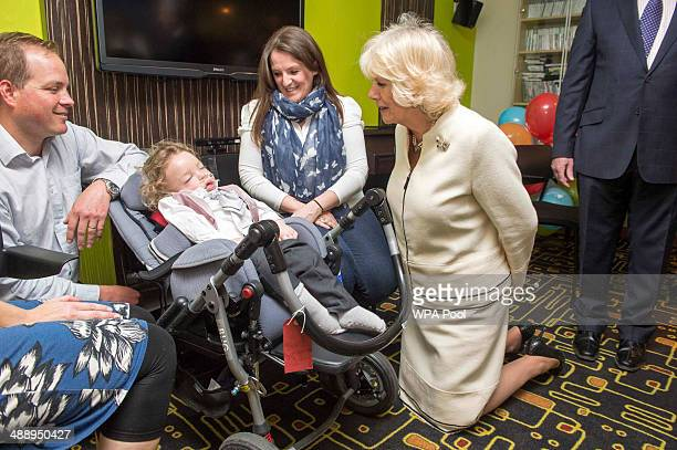Camilla Duchess of Cornwall Patron of Helen Douglas House Hospice meets 2yearold Jacob Webb as she visits Douglas House to celebrate their 10th...