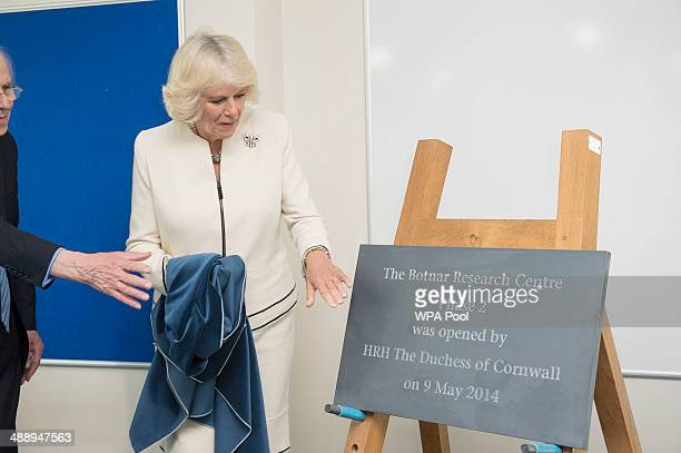 Camilla Duchess of Cornwall Patron of Nuffield Orthopaedic Centre Charity unveiles a plaque to open the second phase of the University of Oxford's...