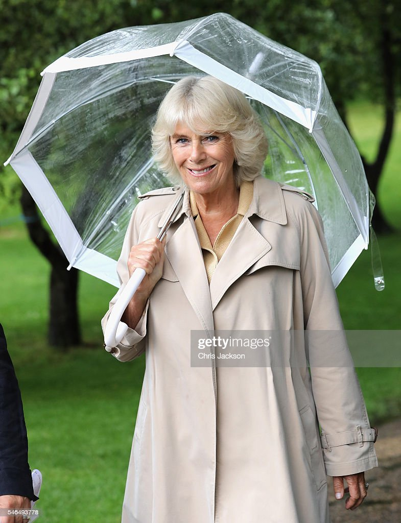 Camilla, Duchess of Cornwall, Patron of Roald Dahl 100, visits her dream jar that has been created as part of the BFG Dream Jar Trail in St James Park on July 12, 2016 in London, England. The event was attended by nurses and children from Roald Dahl's Marvellous Children's Charity. Her Royal Highness's Dream Jar has been designed by the renowned art director Michael Howells and shows The Duchess's dream of sharing the magic of books with the children of the world.