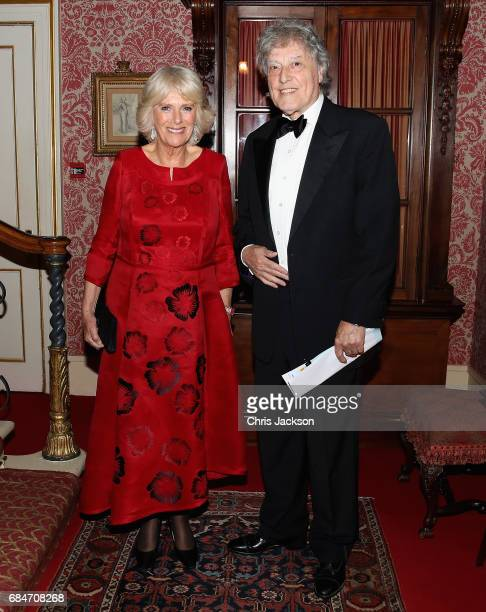 Camilla Duchess of Cornwall Patron of the London Library hosts a dinner and evening of readings in honour of the Library's President Sir Tom Stoppard...