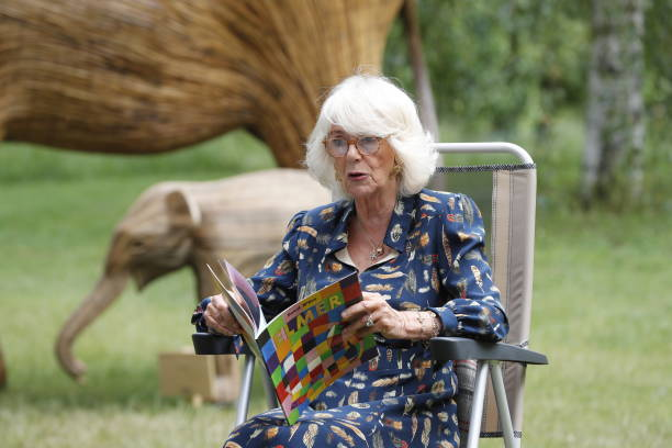 GBR: The Duchess Of Cornwall Attends Literacy Engagements In London