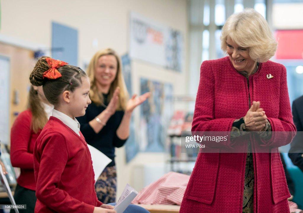 The Duchess Of Cornwall Visits Swindon : News Photo
