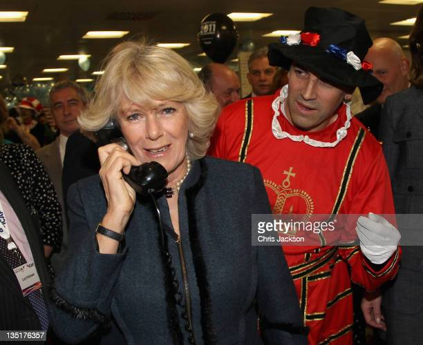 Camilla, Duchess of Cornwall performs a 5 billion trade sterling short interest rate swop trade under the guidance of Mark Williams during the ICAP...