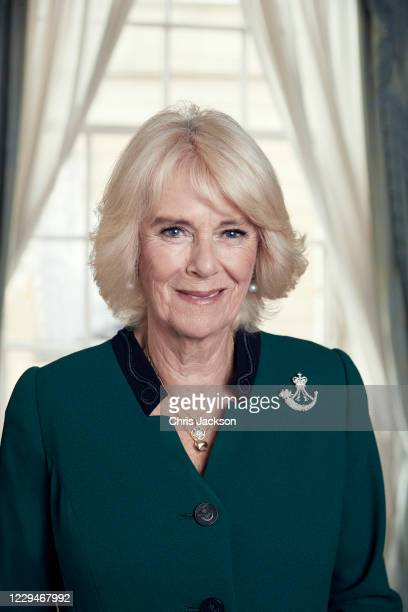 Camilla, Duchess of Cornwall poses for a portrait at Clarence House as she takes over as Colonel-in-Chief of The Rifles, from The Duke of Edinburgh,...