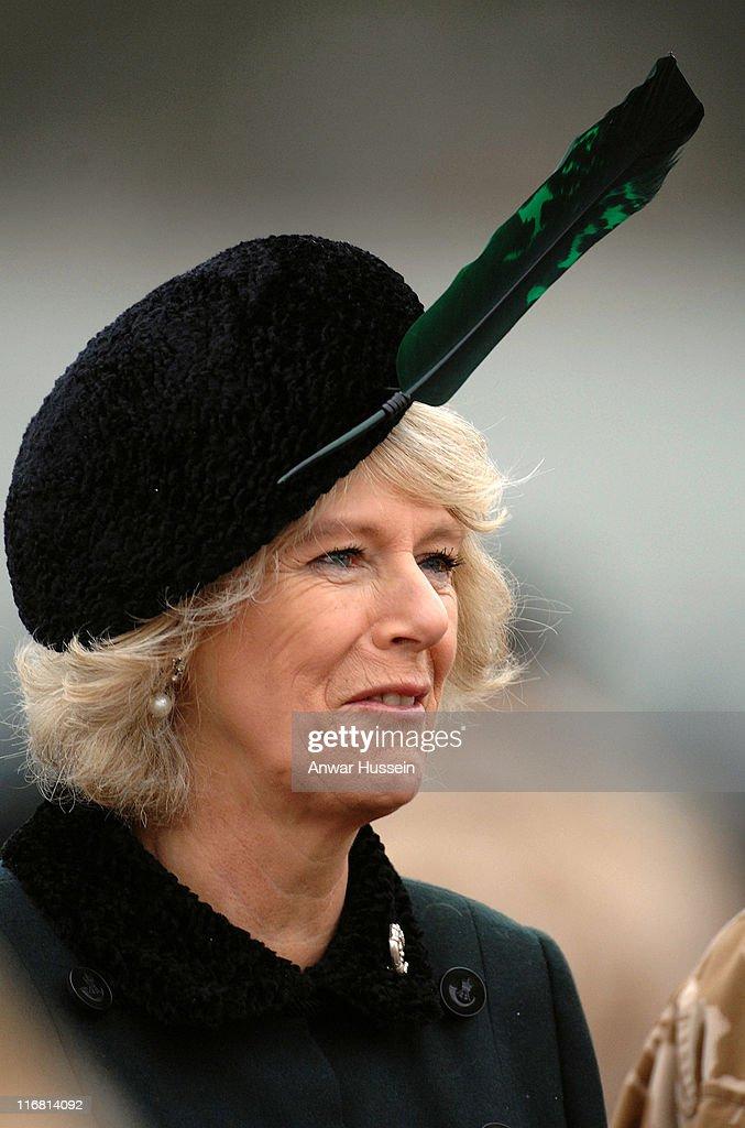 The Duchess of Cornwall Visits the 4th Battalion Rifles : News Photo