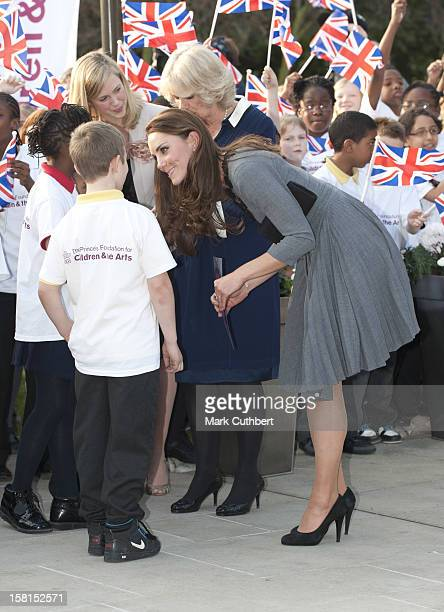 Camilla Duchess Of Cornwall Prince Charles President Of The Prince'S Foundation For Children The Arts And The Duchess Of Cambridge Visit Dulwich...
