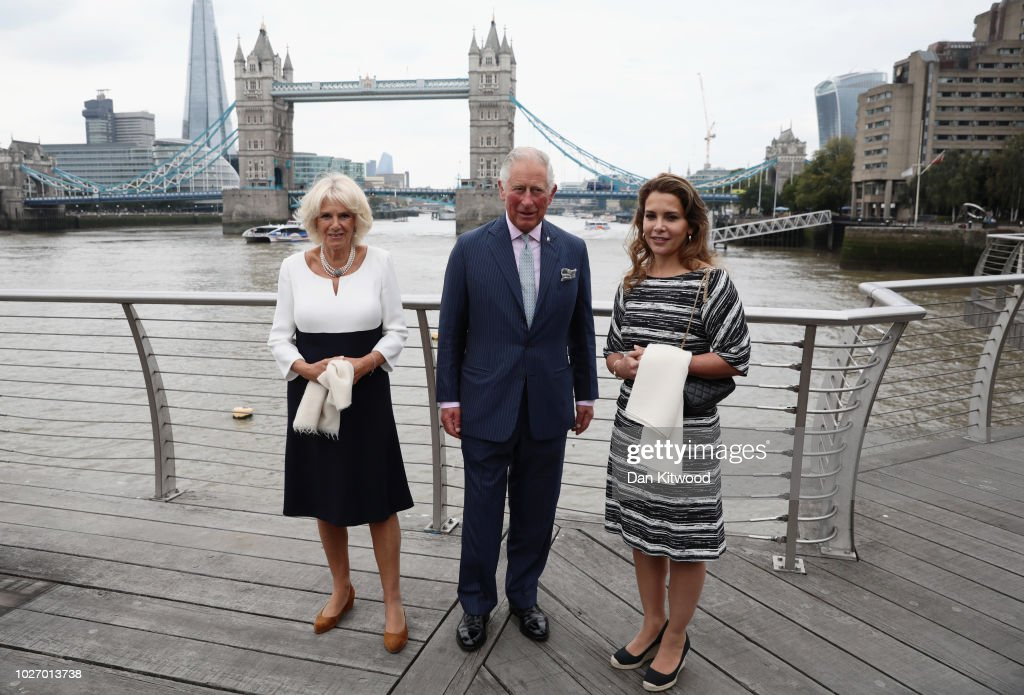 The Prince Of Wales And Duchess Of Cornwall Visit The 'Maiden' Yacht
