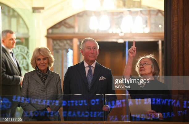 Camilla, Duchess of Cornwall, Prince Charles, Prince of Wales and Lady Hale, President of the Supreme Court during a visit to The Supreme Court of...