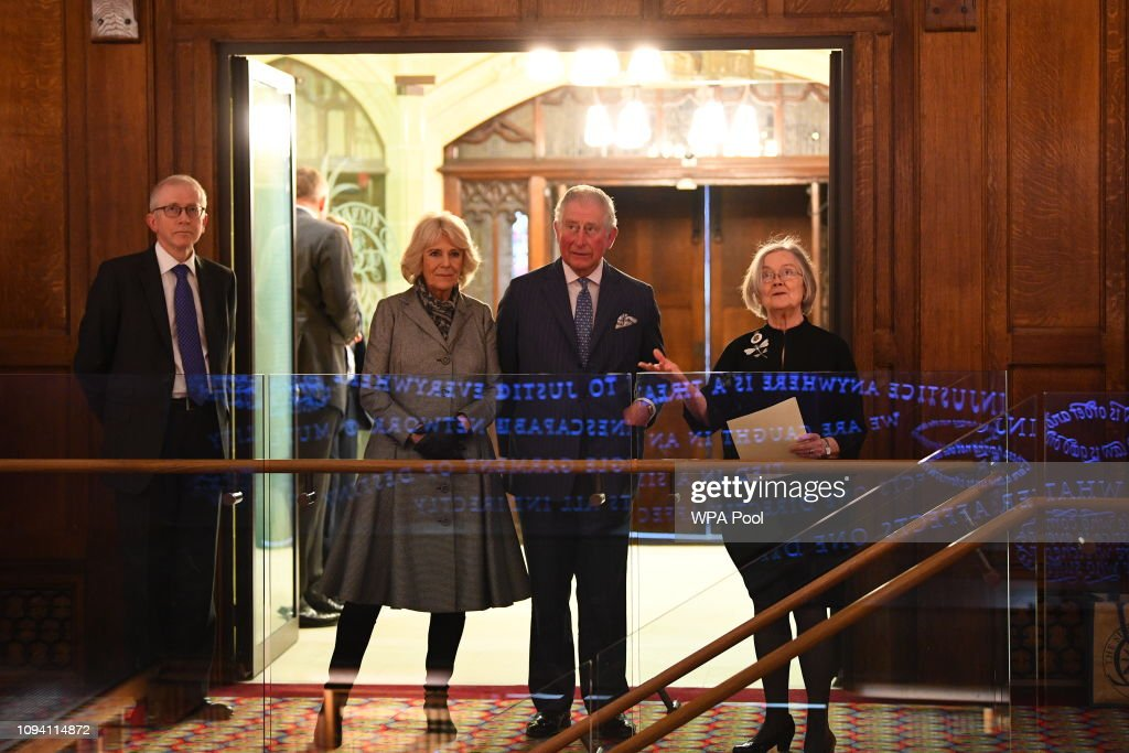 The Prince Of Wales & Duchess Of Cornwall Visit The Supreme Court : News Photo