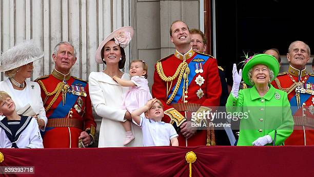 Camilla Duchess of Cornwall Prince Charles Prince of Wales Catherine Duchess of Cambridge Princess Charlotte Prince George Prince William Duke of...