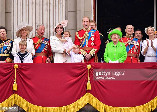 Camilla Duchess of Cornwall Prince Charles Prince of Wales Catherine Duchess of Cambridge Princess Charlotte of Cambridge Prince George and Prince...