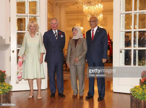 Camilla Duchess of Cornwall Prince Charles Prince of Wales President of Singapore Halimah Yacob and First Gentleman of Singapore Mohamed Abdullah...