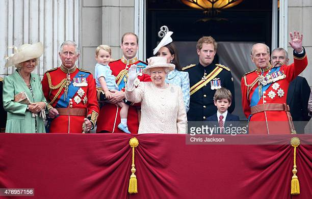 Camilla, Duchess of Cornwall, Prince Charles, Prince of Wales, Prince George of Cambridge, Prince William, Duke of Cambridge, Catherine, Duchess of...
