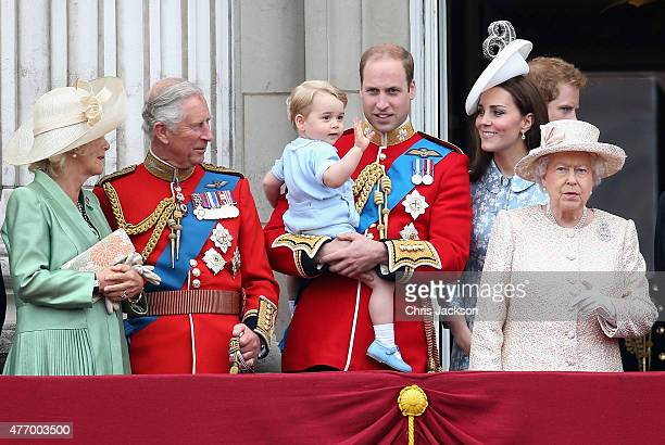 Camilla Duchess of Cornwall Prince Charles Prince of Wales Prince George of CambridgePrince William Duke of Cambridge Catherine Duchess of Cambridge...