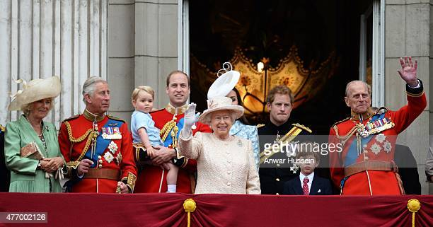 Camilla Duchess of Cornwall Prince Charles Prince of Wales Prince George Prince William Duke of Cambridge Catherine Duchess of Cambridge Queen...