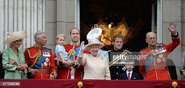 Camilla Duchess of Cornwall Prince Charles Prince of Wales Prince George Prince William Duke of Cambridge Queen Elizabeth ll Prince Harry James...