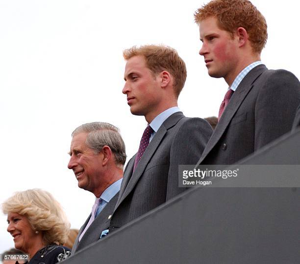 Camilla, Duchess of Cornwall, Prince Charles, Prince of Wales, Prince Harry and Prince William attend the Prince's Trust 30th Live, celebrating 30...