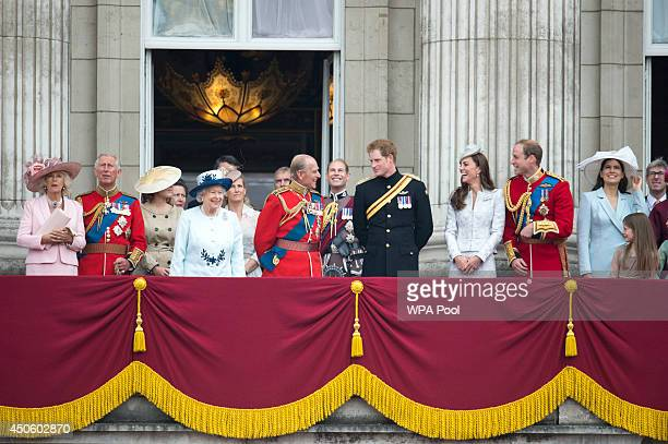 Camilla Duchess of Cornwall Prince Charles Prince of Wales Princess Eugenie Queen Elizabeth II Sophie Countess of Wessex Prince Philip Duke of...