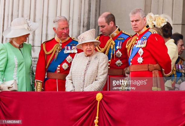Camilla, Duchess of Cornwall, Prince Charles, Prince of Wales, Queen Elizabeth II, Prince William, Duke of Cambridge and Prince Andrew, Duke of York...
