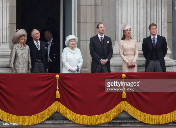 Camilla Duchess of Cornwall Prince Charles Prince of Wales Queen Elizabeth II Prince William Duke of Cambridge Catherine Duchess of Cambridge and...