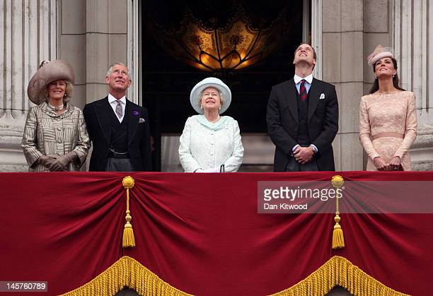 Camilla, Duchess of Cornwall, Prince Charles, Prince of Wales, Queen Elizabeth II, Prince William, Duke of Cambridge and Catherine, Duchess of...