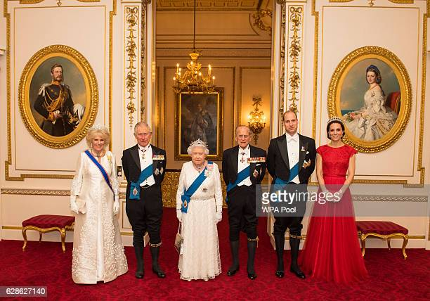 Camilla, Duchess of Cornwall, Prince Charles, Prince of Wales, Queen Elizabeth II, Prince Philip, Duke of Edinburgh, Prince William, Duke of...