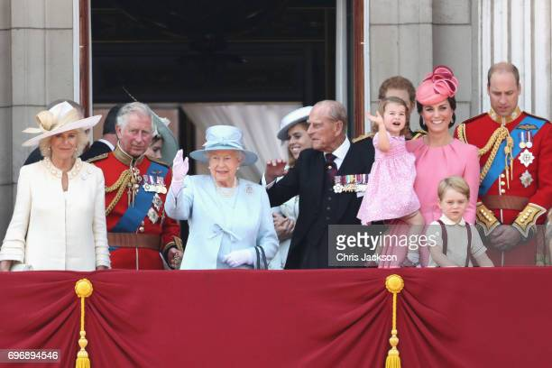 Camilla Duchess of Cornwall Prince Charles Prince of Wales Queen Elizabeth II Princess Beatrice of York Prince Philip Duke of Edinburgh Prince Harry...