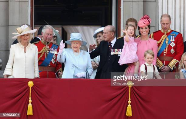 Camilla Duchess of Cornwall Prince Charles Prince of Wales Queen Elizabeth II Prince Philip Duke of Edinburgh Catherine Duchess of Cambridge Princess...