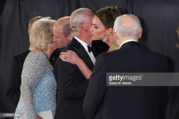 Camilla, Duchess of Cornwall, Prince William, Duke of Cambridge,, Charles, Prince of Wales, Catherine, Duchess of Cambridge and Michael G. Wilson...