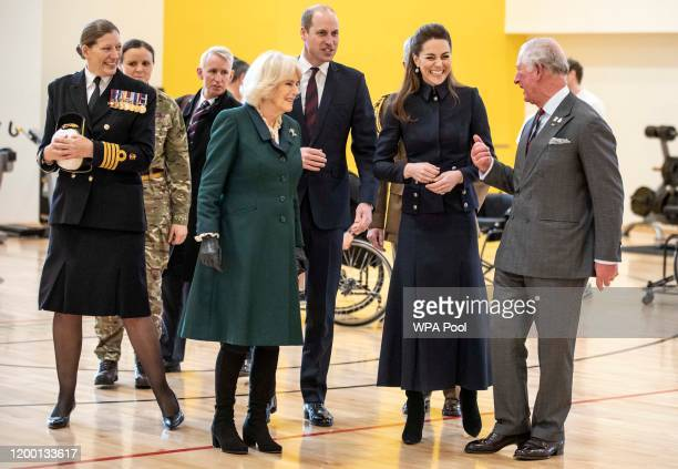 Camilla, Duchess of Cornwall, Prince William, Duke of Cambridge, Catherine, Duchess of Cambridge and Prince Charles, Prince of Wales during a joint...